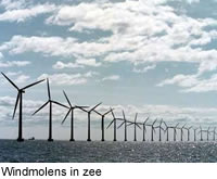 Windmolens in zee