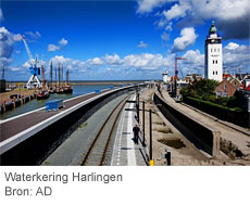 Waterkering Harlingen. Bron: AD