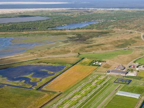 [Translate to english:] Aerial view Salt Farm Texel. Foto: Salt Farm Texel