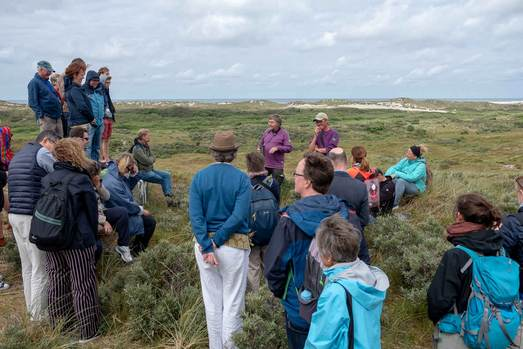 Excursion Terschelling on top of the dunes