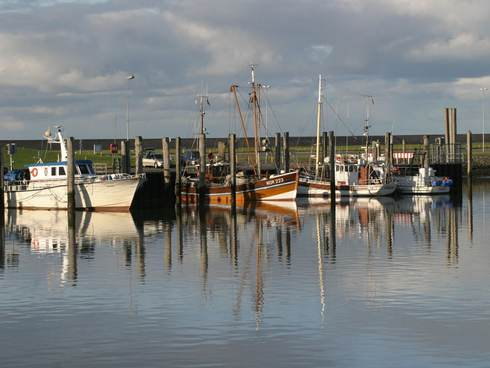 [Translate to english:] Schepen in de jachthaven van Norddeich aan de Duitse waddenkust. Foto: Pixabay
