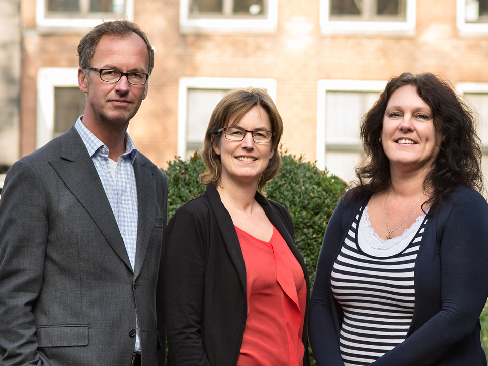 Emloyees of the Bureau of the Waddenacademie, f.l.t.r: Klaas Deen, Thea Smit, Sjerpy Joustra and Martin Baptist (until Jul1 1 2016). Photography: Walther Walraven.