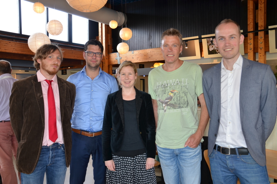 The first five members of the Young Wadden Academy. From left to right: Mans Schepers, Bas Borsje, Nora Mehnen, Eelke Folmer and Stefan Hartman.