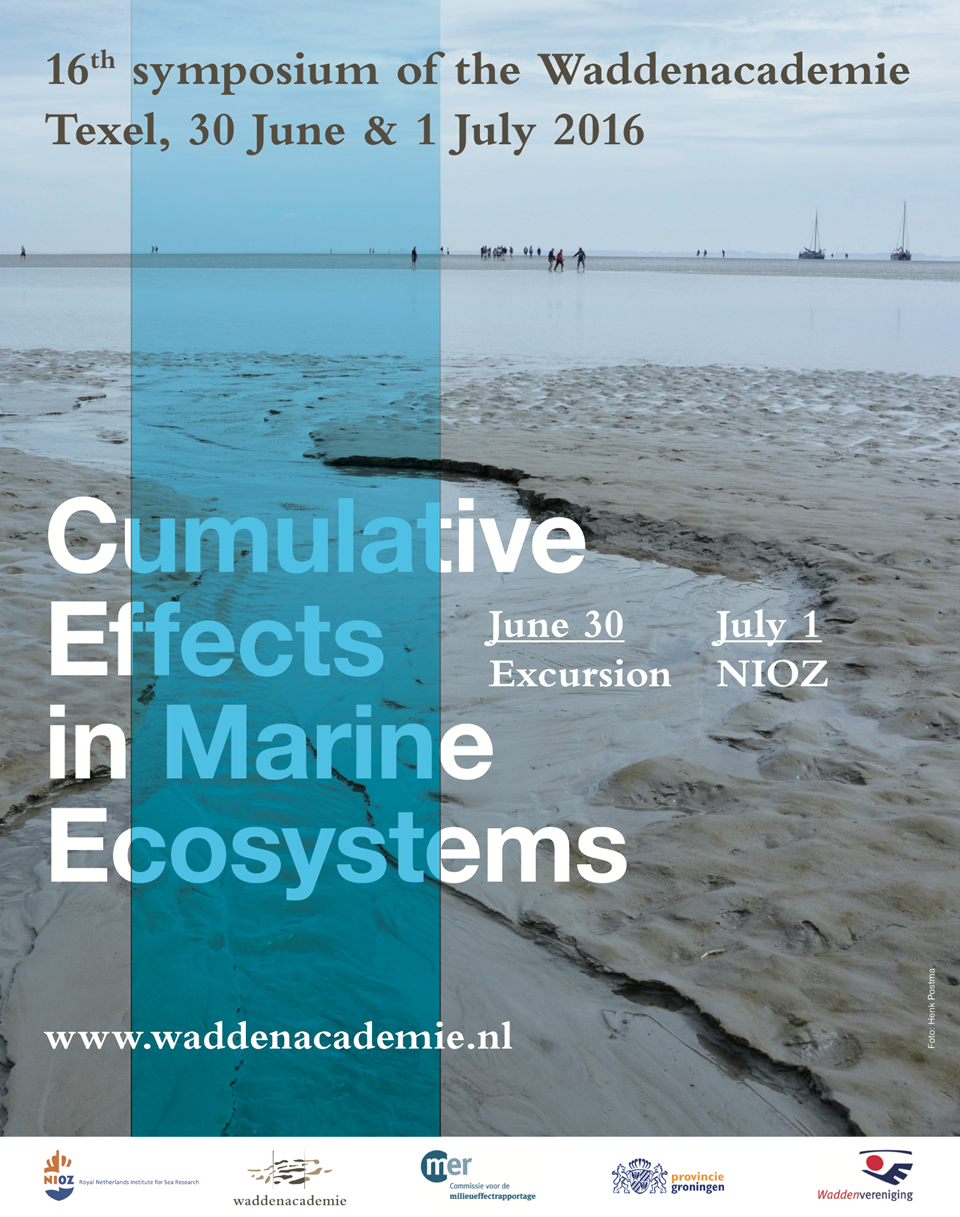 Poster Symposium Cumulative effects in marine ecosystems Texel 2016