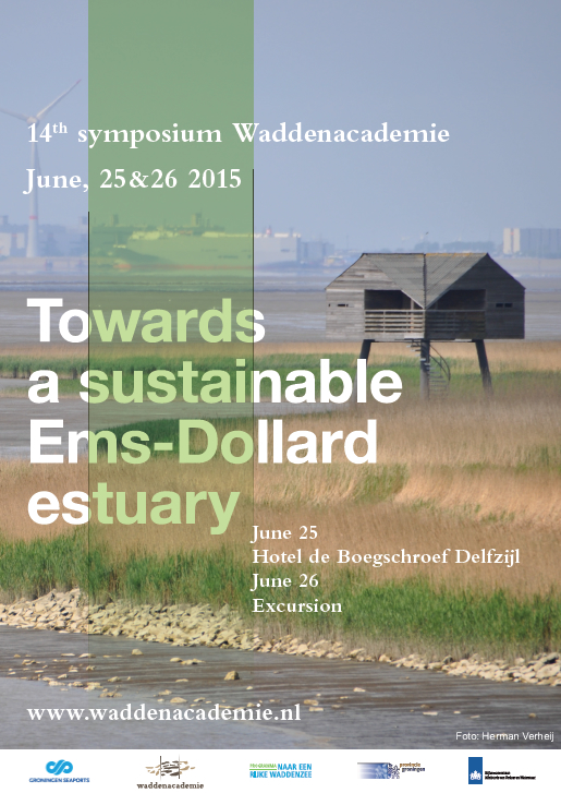 Poster symposium Towards a sustainable Ems-Dollard estuary. Beeld: Herman Verheij