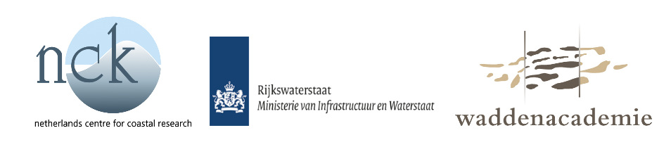 Logo's NCK, Rijkswaterstaat and Waddenacademie